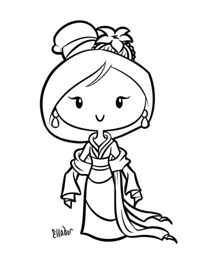 Coloring Sheet Mulan