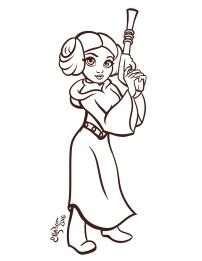 princess-leia-coloring-sheet